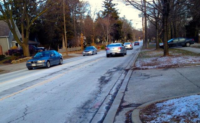 Burlington Lakeshore Road bike lanes