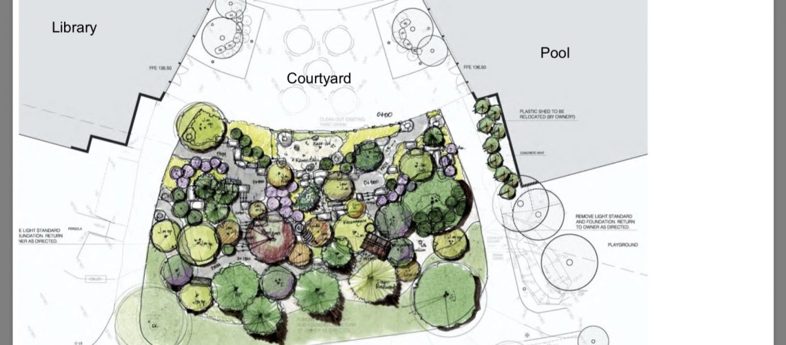 City of Burlington Itabashi Garden artist's rendering.