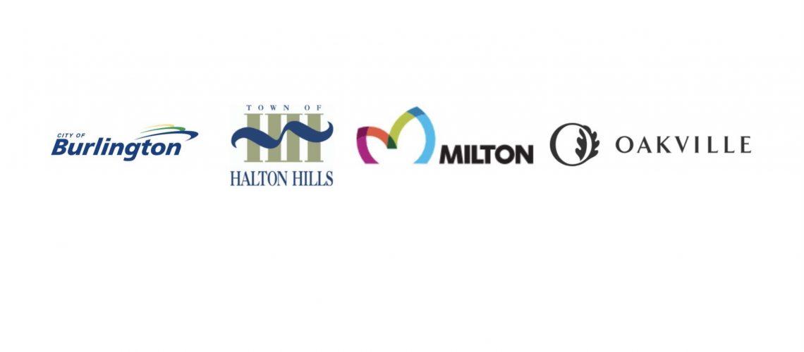 Burlington Milton Oakville Halton Hills logos