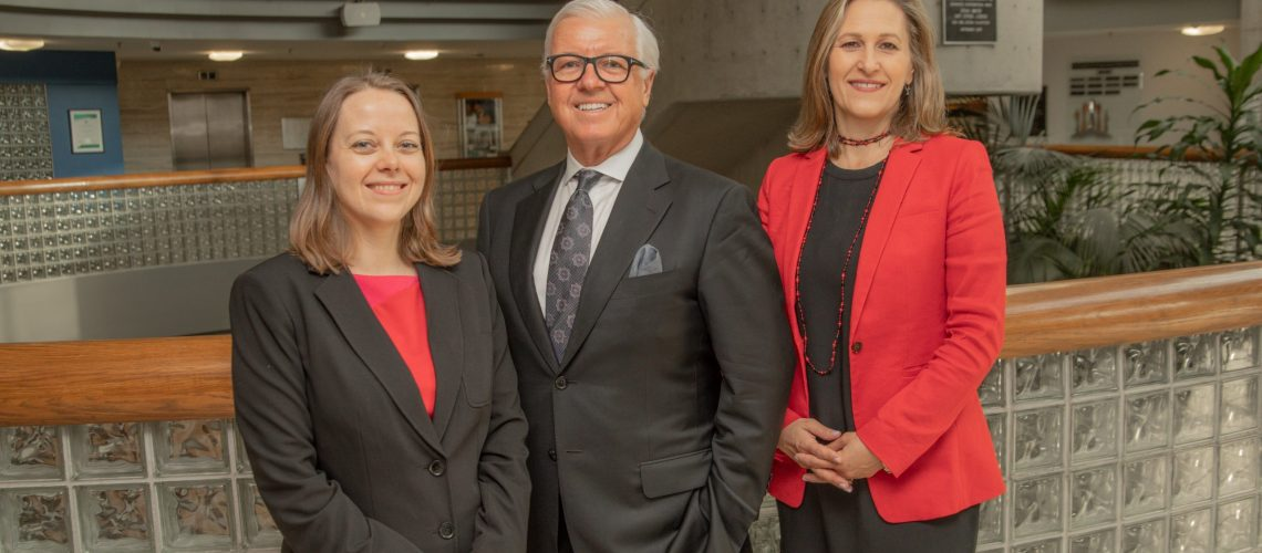 From left, Anita Cassidy, Burlington Economic Development Executive Director; Randy Smallbone, BED Board Chair; and Burlington Mayor Marianne Meed Ward.
