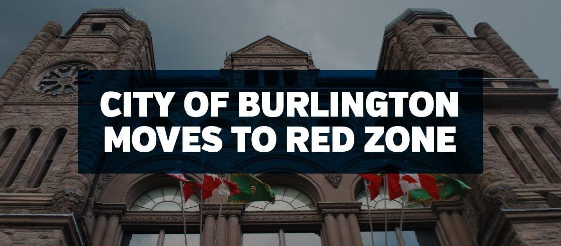 Burlington Moves to Red COntrol ZOne Feb 2021