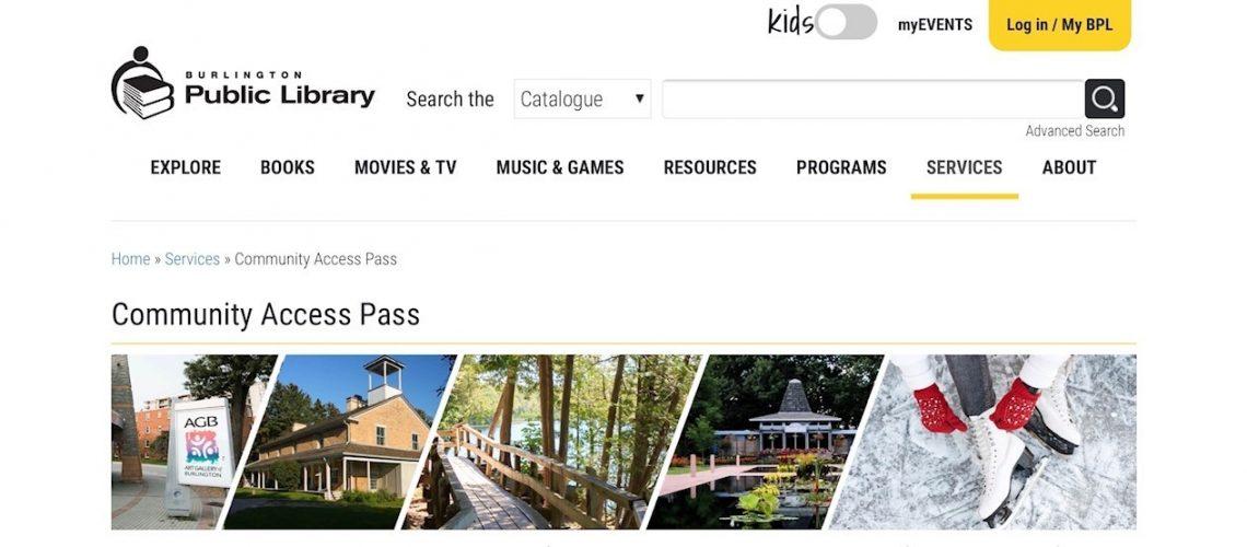 Burlington Public Library - Community Access Pass