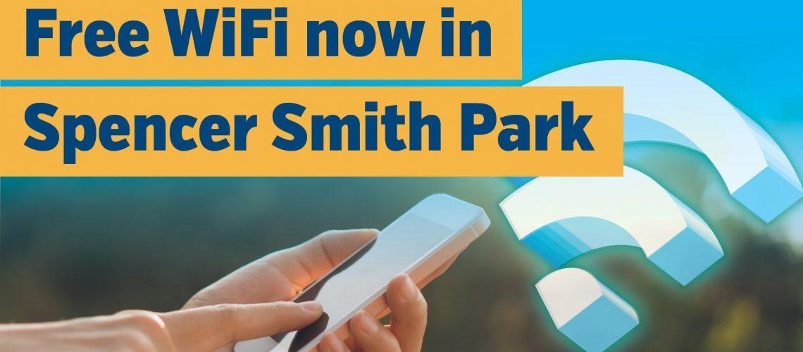 Free wifi in Spencer Smith Park