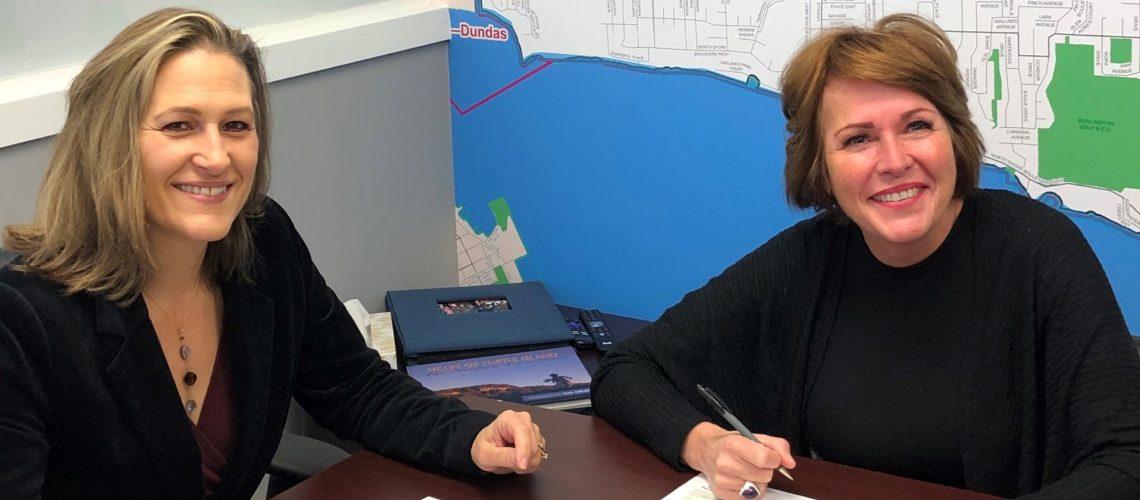 Burlington Mayor Marianne Meed Ward and Burlington MPP Jane McKenna.