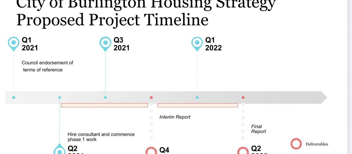Houseing Strategy Project TImeline