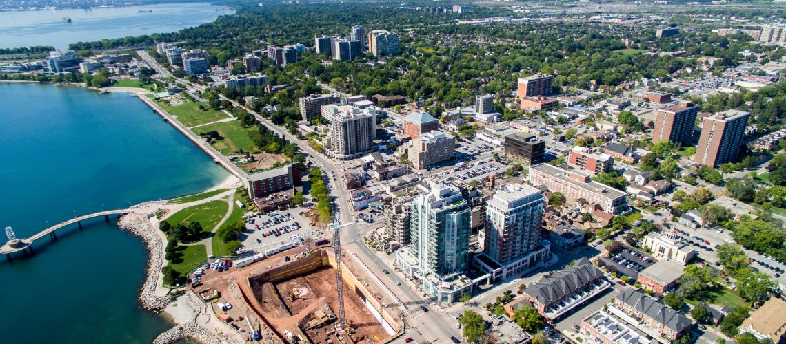 STOCK_Burlington_Downtown_Aerial