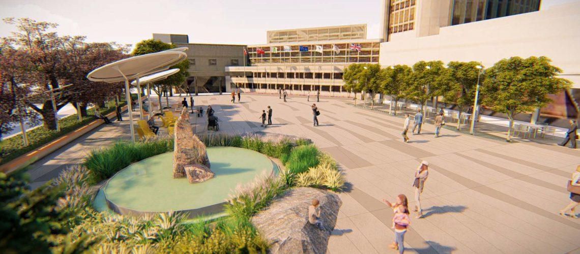 Burlington's Civic Square Renewal draft photo.