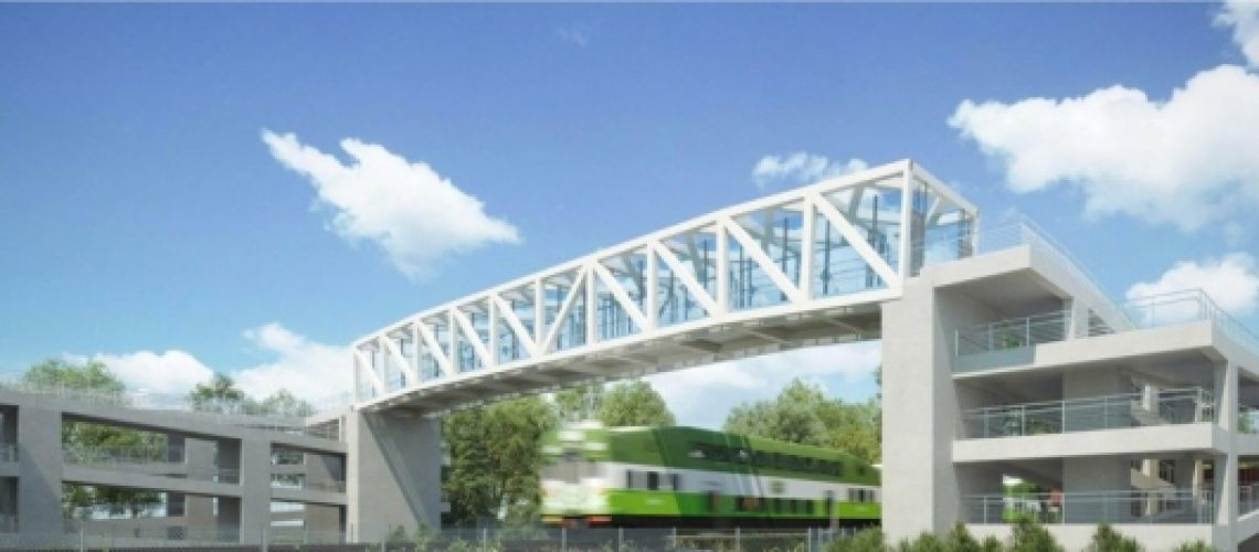 A draft concept design of what the new pedestrian bridge could look like. / Metrolinx photo