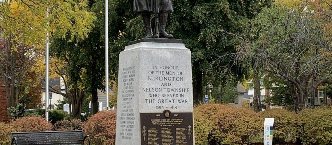 Burlington Cenotaph at Veteran Square.