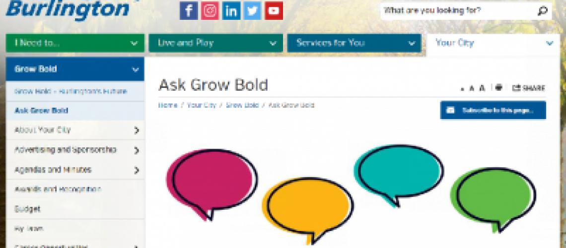 ask grow bold