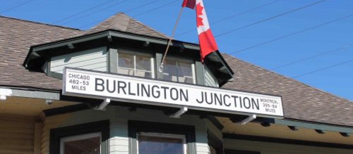 new Burlington Junction sign