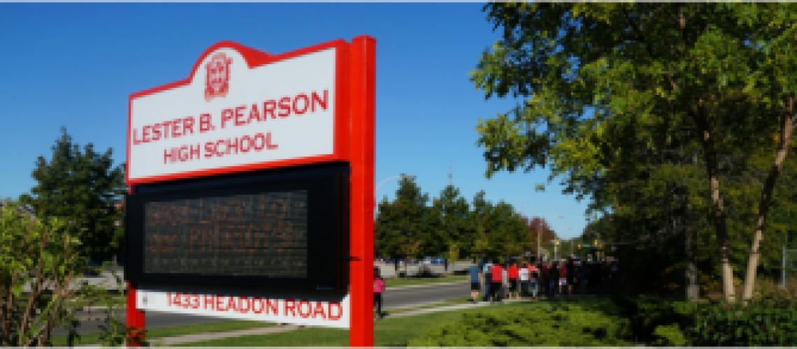 lester b pearson sign
